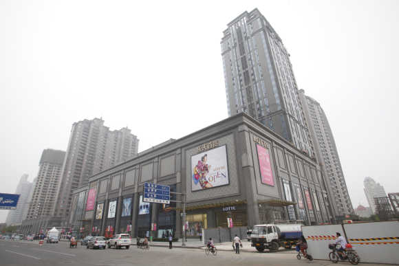 A general view of the Lotte Department Store in Tianjin, Beijing