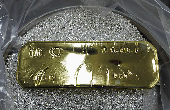 ingot of 99.99 per cent pure gold that weighs 12.5 kg in Ventanas city
