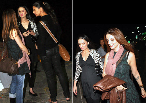 Anu Dewan with Mehr Jesia (left), and with Sussanne Roshan (right)