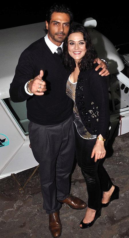 Arjun Rampal and Preity Zinta