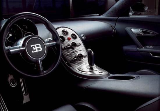 Interiors of Bugatti Veyron 16.4