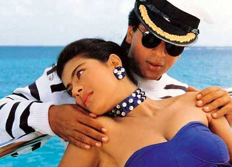 Kajol with Shah Rukh Khan in Baazigar