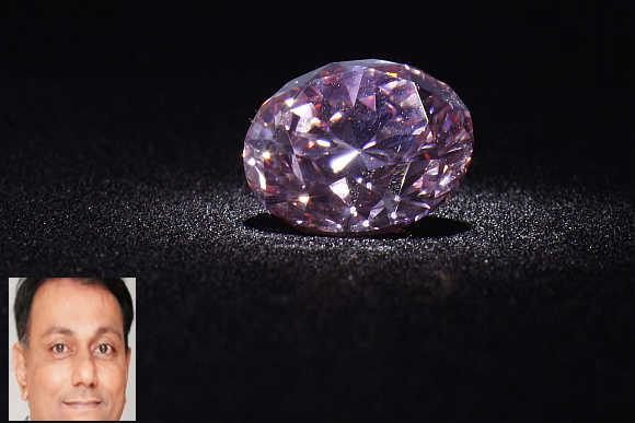 Martian Pink', a 12.04-carat Fancy Intense pink (Type IIa) diamond