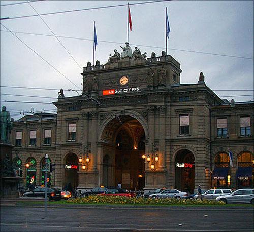 Zurich Hauptbahnhof.