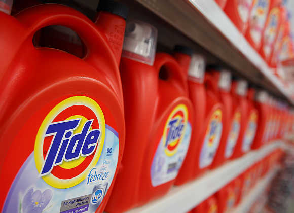 Procter & Gamble's Tide on display at a Walmart store in Chicago.