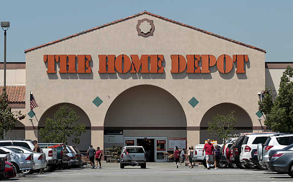 Entrance to The Home Depot store in Monrovia, California.