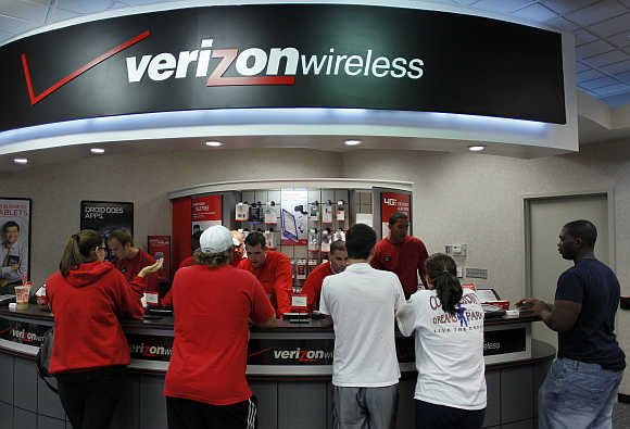A Verizon Wireless network in Boca Raton, Florida, United States.
