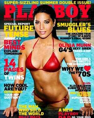 Olivia Munn on the cover of Playboy