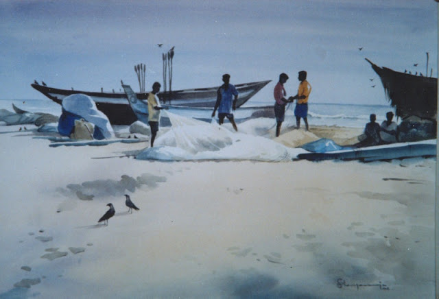 Awesome Water Color Painting Art by Elayaraja from Chennai, India6