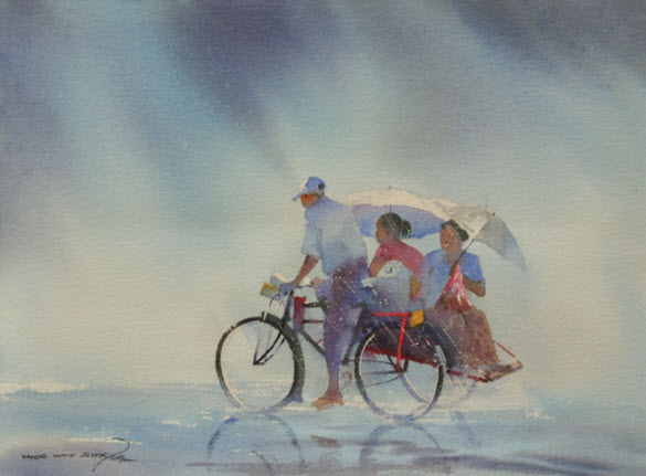 Awesome Water Color Painting Art by Elayaraja from Chennai, India8