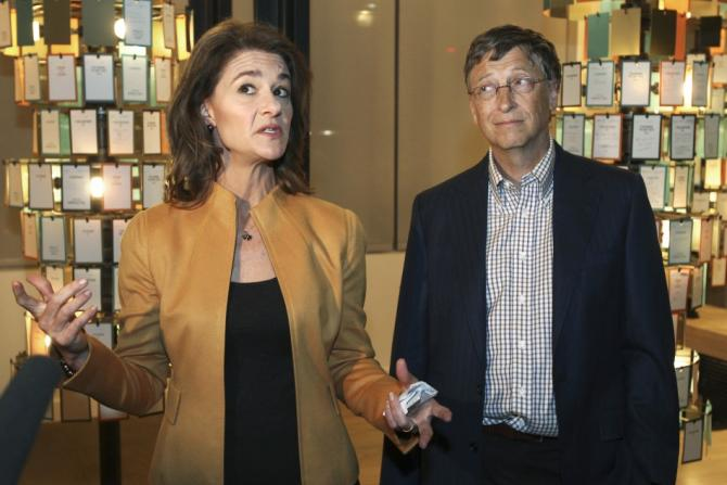 Bill Gates with his wife Melinda in Seattle.