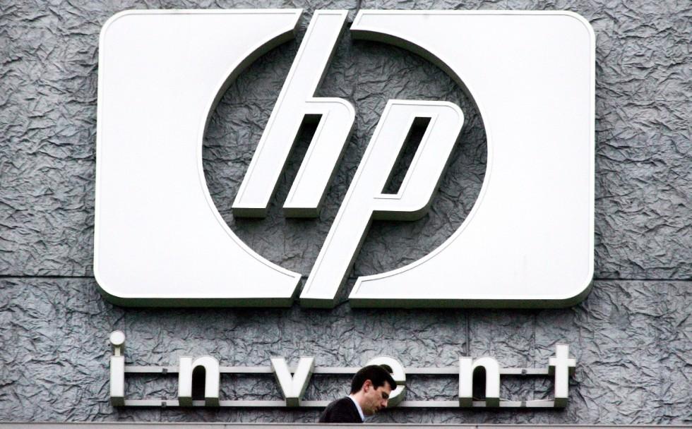 Hewlett Packard's French headquarters in Issy le Moulineaux, western Paris.